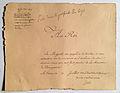 Louis XVIII - Memoire au roi concernant les adhérents de la maison de Bonaparte dans le service du roi - 1815.jpg
