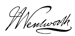 John Wentworth (Lieutenant-Governor) - Image: Lt. Col. John Wentworth's signature