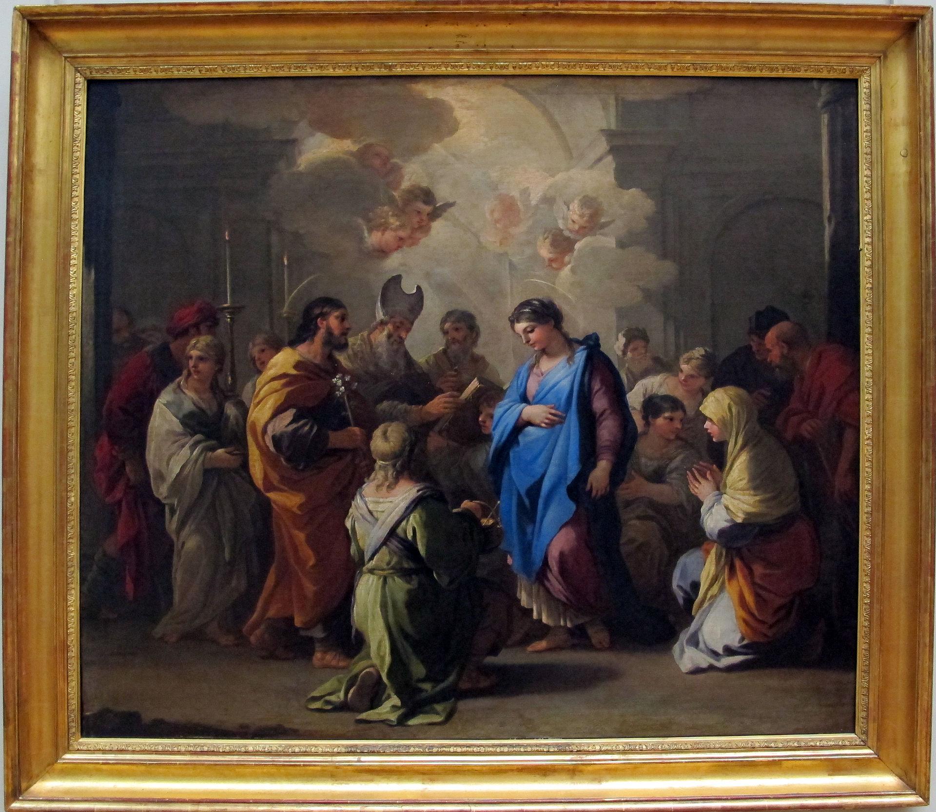 Virgen Matrimonio Biblia : Matrimonio de la virgen luca giordano wikipedia