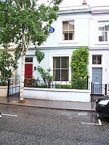 Lugar donde vivió. Notting Hill, en Londres.