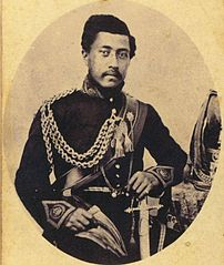 Lunalilo in uniform, photograph from Bishop Museum.jpg