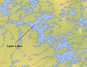 Lynx Lake (Northwest Territories) - Map