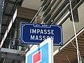 Lyon 9e - Impasse Masson - Plaque (fév 2019).jpg