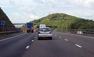 Court Hill - Image: M5 southbound towards Court Hill (geograph 3638224)