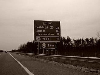 M6 motorway (Hungary) - M6 124km