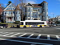 MBTA route 41 bus at Canary Square, March 2016.JPG