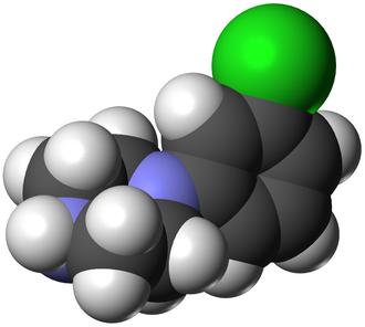 Meta-Chlorophenylpiperazine - Image: MCPP 3D vd W