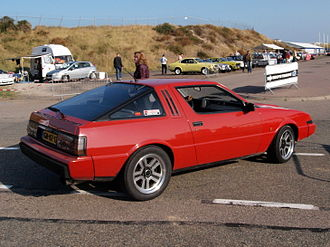 Mitsubishi Starion - Rear view of earlier, narrow-bodied Starion