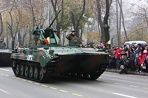 MLI-84 - MLI-84M on the Romanian National Day parade at the Triumph Arch in Bucharest, 1 December 2008.
