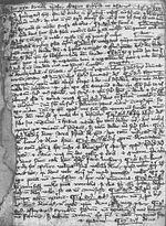 The bull In agro dominico;  Copy in Mainz, City Library, manuscript I 151, sheet 201r.  (14th Century)
