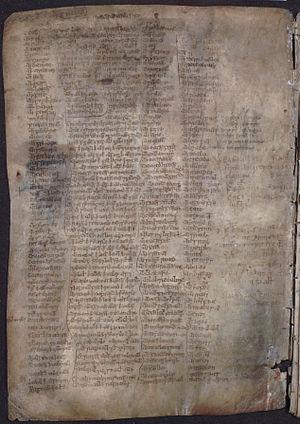 MacMhuirich bardic family - Image: MS 1467, folio 1, verso
