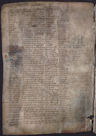 MacMhuirich bardic family - The mid 15th century MS 1467 (pictured) was likely composed by a member of Clann MacMhuirich.