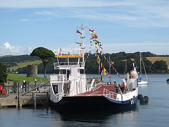 Portaferry–Strangford ferry - Image: MV Strangford II dressed overall (geograph 5470930)