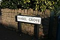 Mabel Grove street sign, West Bridgford - geograph.org.uk - 1748546.jpg