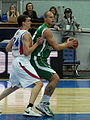 Maciej Lampe vs Sasha Kaun at all-star PBL game 2011.JPG