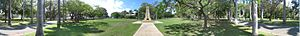 Mackay, Queensland - Panoramic image from pathway to Rats of Tobruk memorial in Queen's Park, Mackay