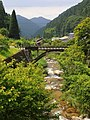 Mae-bashi Bridge over Noiri River, Onose-cho Toyota 2019.jpg