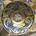 Maestro giorgio di gubbio, piatto con putto e grottesche, 1524.JPG