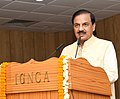 Mahesh Sharma addressing the book release function of 'Jewellery' (A scientific study of social tradition) by Dr. Gulab Kothari.JPG
