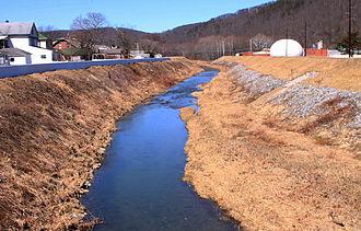 Mahoning Creek (Susquehanna River tributary) - Mahoning Creek near West Mahoning Street in Danville