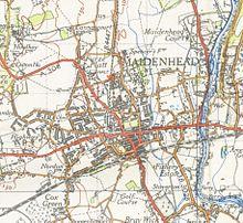 Map Of Maidenhead Maidenhead   Wikipedia Map Of Maidenhead