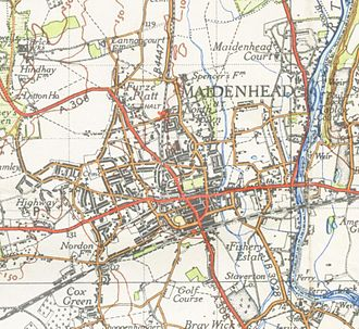 Maidenhead - Map of Maidenhead from 1945
