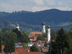 Maierhöfen - Steinlishof - Isny v SW, Adelegg 03.jpg