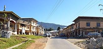 Damphu, Tsirang - Image: Main Road Damphu