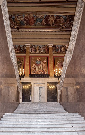 Hungarian National Museum - The main stairway