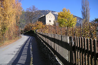 "Rainer Maria Rilke - Château de Muzot in Veyras, Switzerland, was where Rilke completed writing the Duino Elegies in ""a savage creative storm"" in February 1922."
