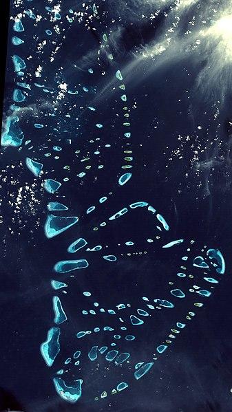 Atolls make up the Maldives