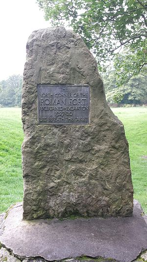 Philip Corder - Plaque recording the excavations of the Roman fort at Malton in 1927-1930 by Philip Corder