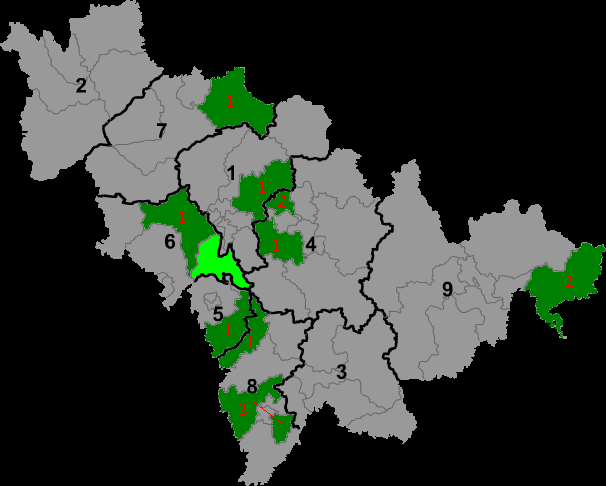 Manchu autonomous regions in Jilin