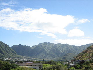valley and a residential neighborhood of Honolulu, Hawaiʻi