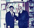 Mansoor Ijaz with Dr. Abdus Salam, Autumn 1992.jpg