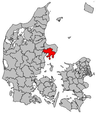 Syddjurs Municipality - Location of Syddjurs municipality