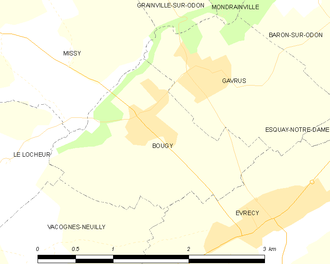 Second Battle of the Odon - Image: Map commune FR insee code 14089