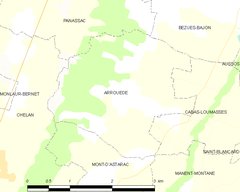 Map commune FR insee code 32010.png
