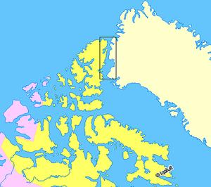 Nares Strait - Image: Map indicating Nares Strait