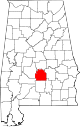 Map of Alabama highlighting Lowndes County.svg