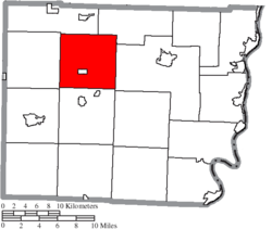 Location of Union Township in Belmont County