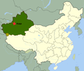 Map of China highlighting Kuqa.png