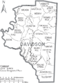 Map of Davidson County North Carolina With Municipal and Township Labels.PNG