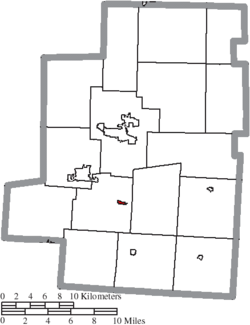 Location of Fulton in Morrow County