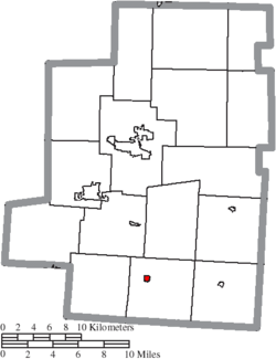 Location of Marengo in Morrow County