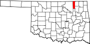 Map of Oklahoma highlighting Washington County.svg