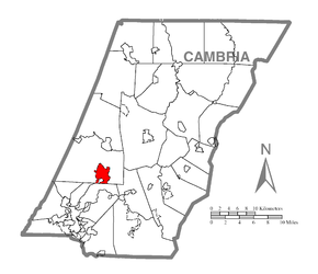 Map of Vinco, Cambria County, Pennsylvania Highlighted.png