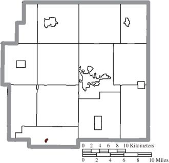 Marseilles, Ohio - Image: Map of Wyandot County Ohio Highlighting Marseilles Village
