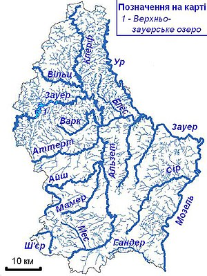 Map of rivers of Luxembourg — Карта річок Люксембургу.jpg