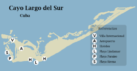 Cayo Largo Map Cayo Largo del Sur   Wikipedia
